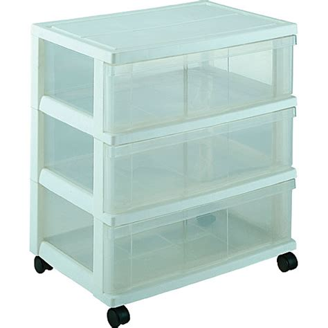 Plastic Storage Dresser iris plastic wide three drawer storage chest organization store