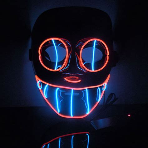 Glowing Kefir Mask 10 Days 2016 new year flash el wire led glowing mask sale in masks from