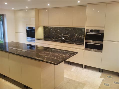 granite bench tops cosmic black granite worktops installed in frton
