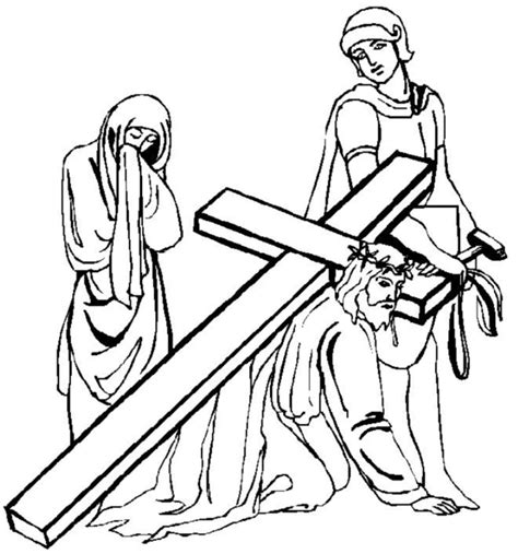 free printable coloring pages of jesus as a boy jesus on the cross drawings clipart best