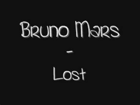 lost lyrics bruno mars lost lyrics