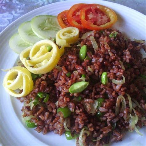 nasi goreng beras merah   diet nasi blog