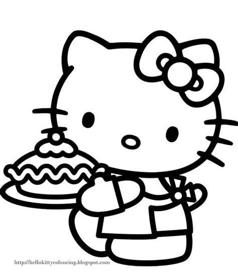 hello kitty birthday cake coloring page free hello kitty cupcake coloring pages