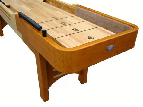 9 Honey Maple Playcraft Coventry Shuffleboard Table Bar Shuffleboard Table