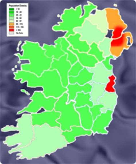population map of ireland the built environment