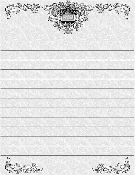 printable writing paper with border 9 best images of standard printable lined writing paper