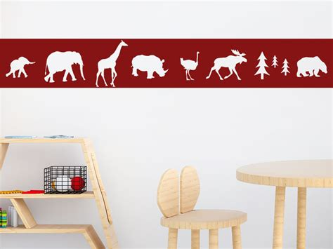 bordure kinderzimmer tiere wandtattoo bord 252 re tiere wandtattoos de