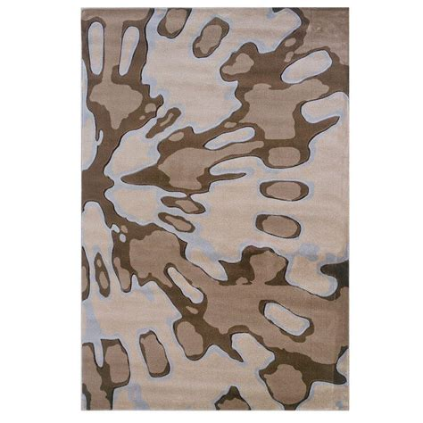 linon home decor milan collection brown and turquoise 5 ft linon home decor milan collection ivory and brown 5 ft x