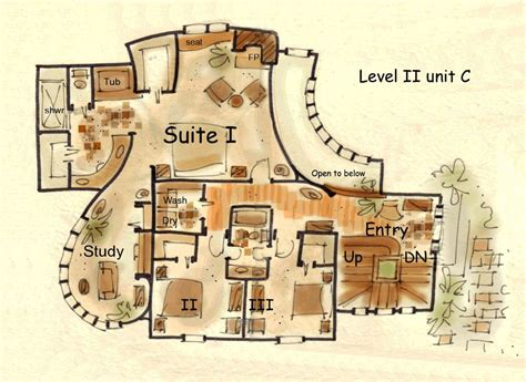 hobbit house floor plans hobbit house floor plans fantasy house plan hansel