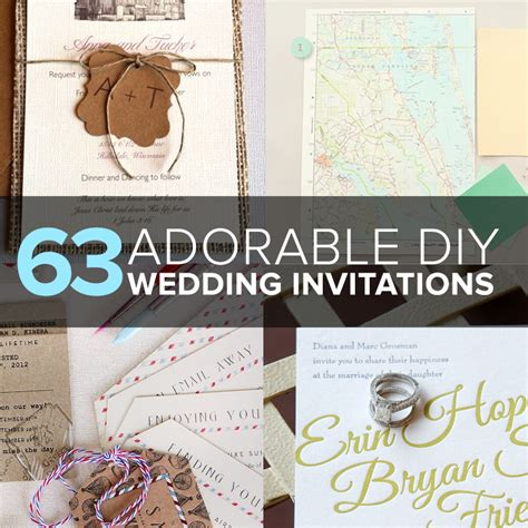 Wedding Invitations Ideas Diy by 63 Adorable Diy Wedding Invitation Ideas