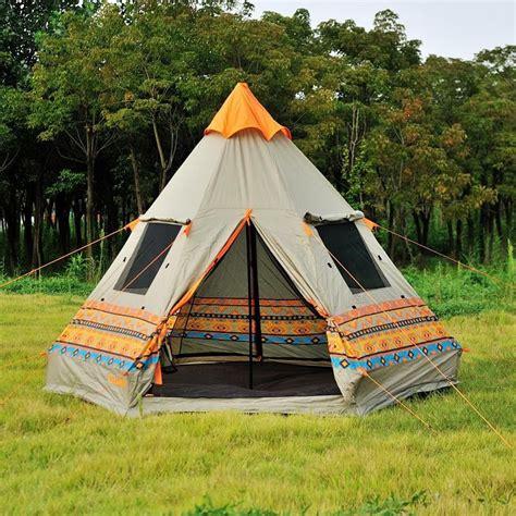 backyard teepee tent super cool authentic pyramid teepee 4 window large outdoor