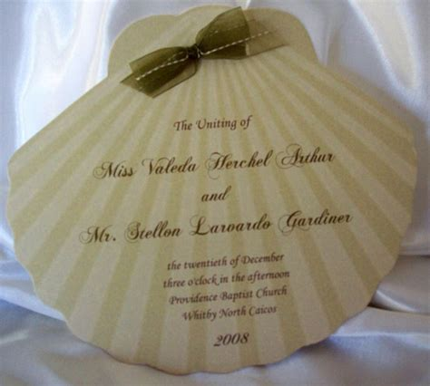 Shellchaped Card Template by Wedding Invitations Fan Programs Designs By Ginny
