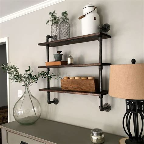 25 best ideas about pipe shelves on