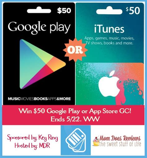 App Store Giveaway - 50 google play or app store gc giveaway from key ring app ww 5 22