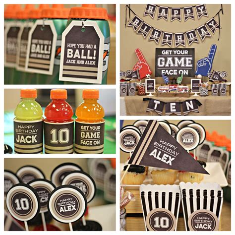 sports theme decorations boy sports birthday decorations all sports football