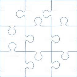 Puzzle Templates by Puzzle Template 9 Pieces Vector Stock Vector 522100115