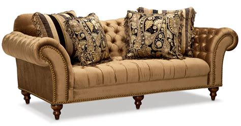 sofa loveseat and chaise set bronze american