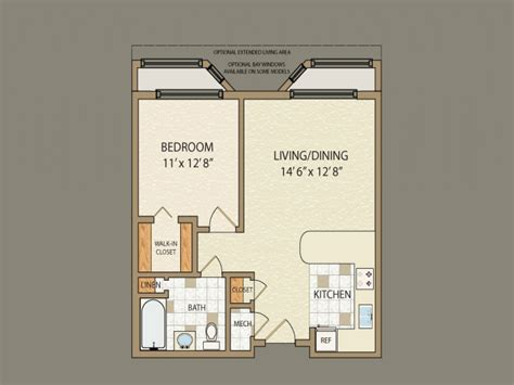 1 bedroom home floor plans 1 bedroom house plans simple one bedroom house plans home plans homepw00769 960 17