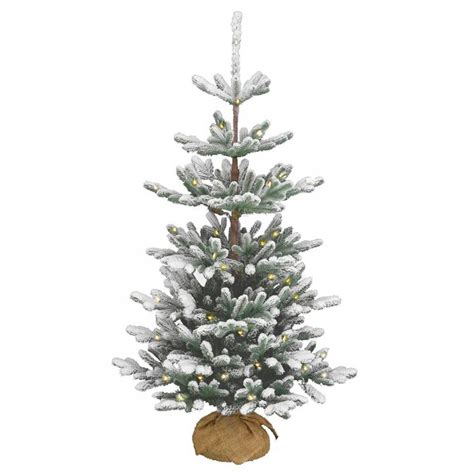 national tree snowy impearial 4ft pre lit battery operated snowy imperial blue spruce burlap feel real artificial