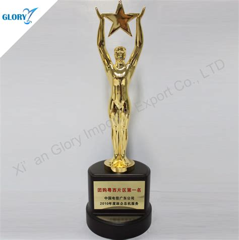 best quality metal golden trophy used for