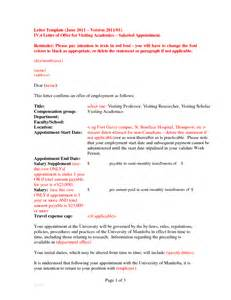 Employment Letter In Canada Offer Of Employment Letter Template Canada