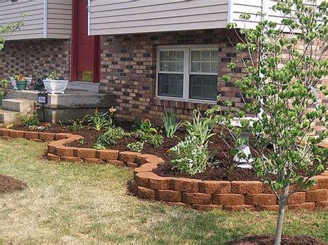 brick edging for flower beds brick driveway image brick edging for your flower beds