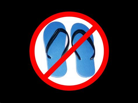 no slippers allowed sign stephens no polyester