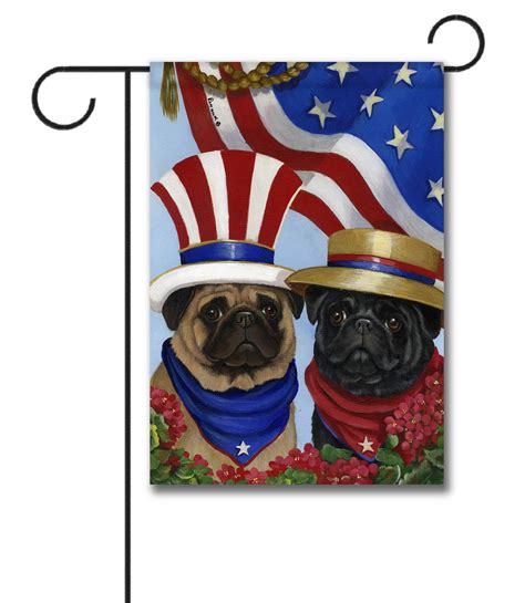 pug garden flags pug american pride garden flag 12 5 x 18 custom printed flags flagology