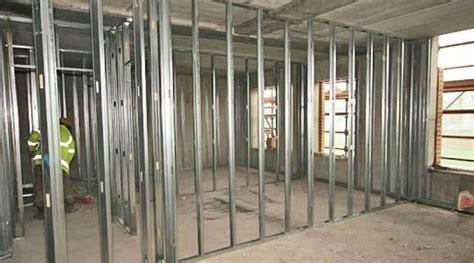 building  metal framed stud wall