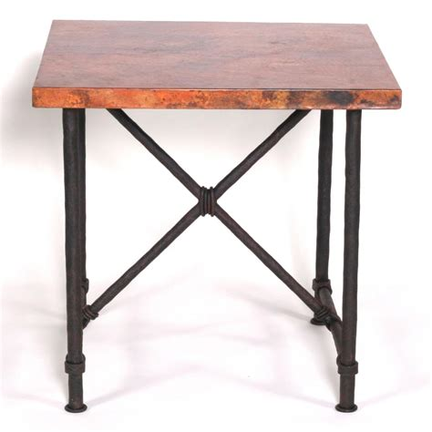 wrought iron burlington end table base only by mathews co