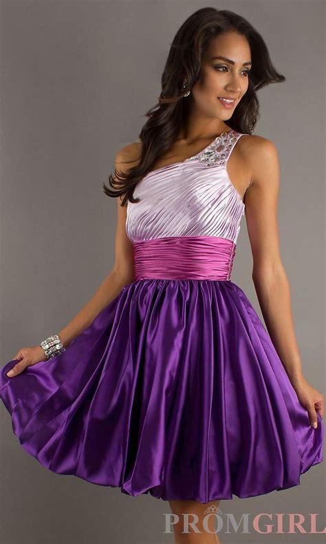 Short One Shoulder Prom Dresses, Teen Cocktail Dresses
