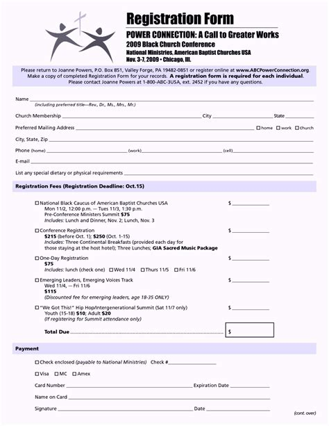 registration cards for churches template church nursery registration form thenurseries