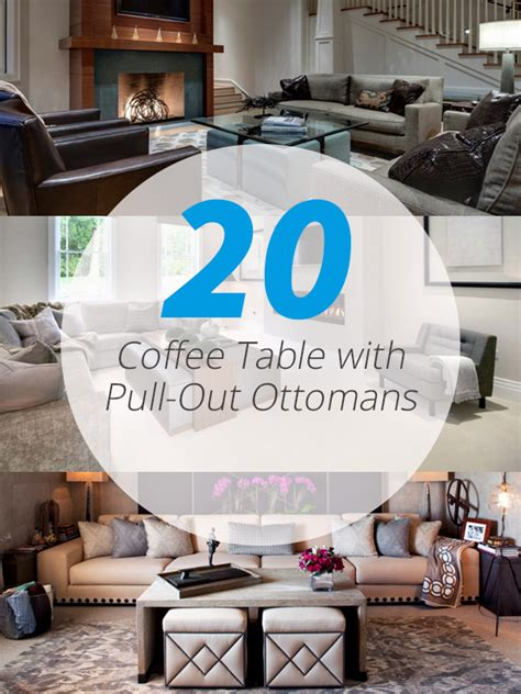 20 charming coffee table with pull out ottomans home