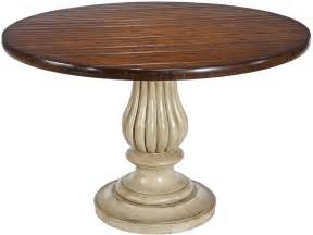 Cherry Pedestal Dining Table New Dining Table 58 Quot Cherry Veneer Antique White Contrast Pedestal Ebay