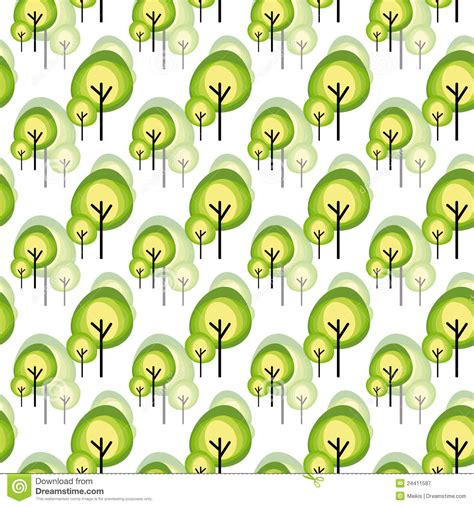 abstract tree pattern abstract green tree seamless pattern royalty free stock