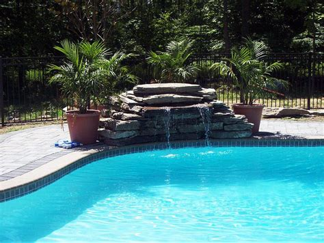 waterfalls for pools inground inground pool waterfalls backyard ideas pinterest