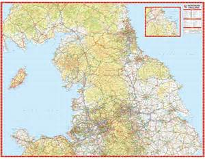 Map Of Northern England northern england wall map