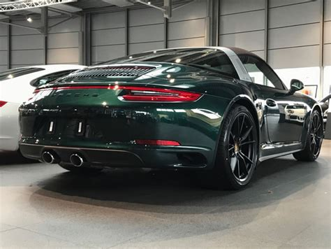 porsche targa green jet green porsche 991 2 targa 4 stuns with brown roof