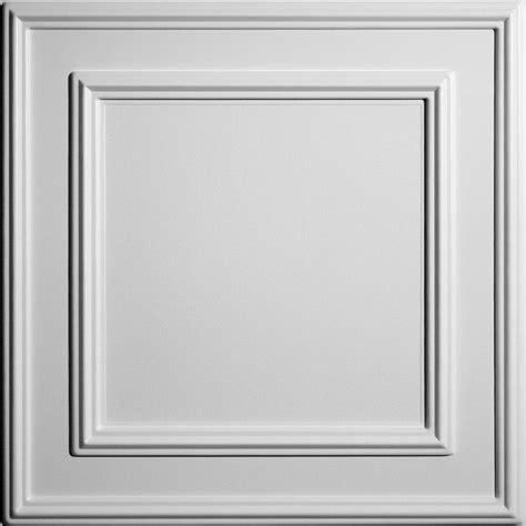 Ceilume Cambridge White Ceiling Tile 2 Feet X 2 Feet Lay White Ceiling Panels
