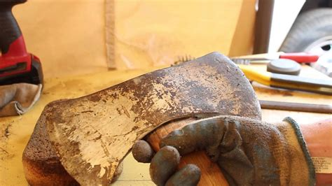 collins double bit axe restoration country living youtube