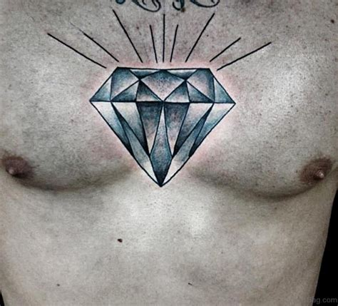 tattoos diamond design 74 marvelous tattoos on chest