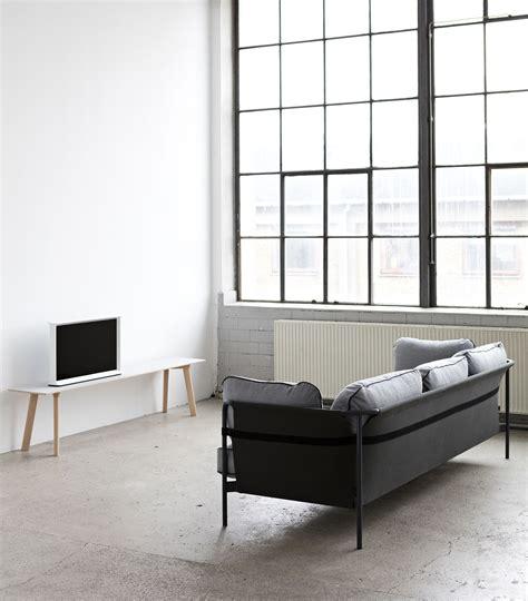 sofa designklassiker can sofa 3 seaters l 247 cm khaki black