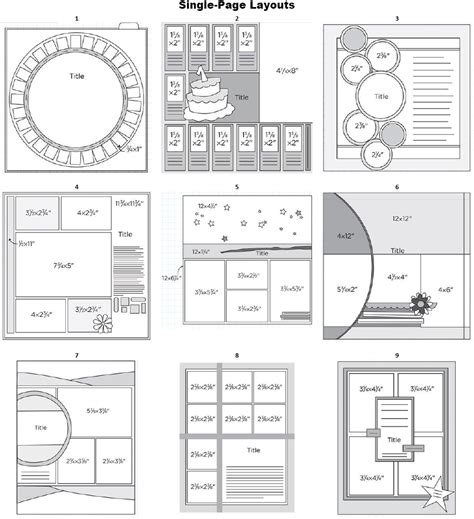 Single Page Layouts Great Website With Sketch Layout Templates For Scrapbooks Sketches Pin Design Template