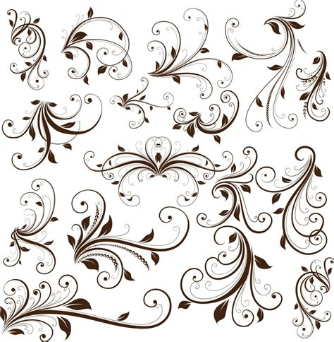 elegant pattern brush photoshop 11 elegant swirl designs vector images elegant swirl