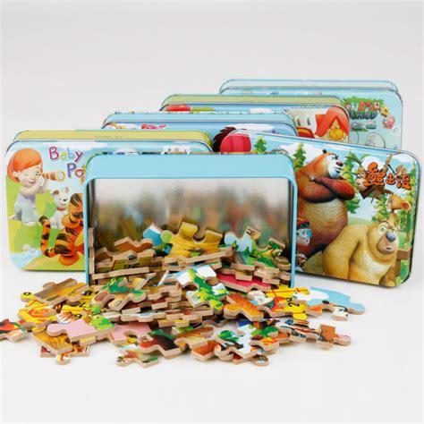 Puzzle 60 Pcs 1 toys 60 pcs set iron box wooden puzzles child s