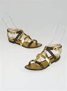 Louis Vuittons Feerique T Sandals Shoes With Gold Plated Heels by Louis Vuitton Monogram Canvas And Gold Leather Be Happy