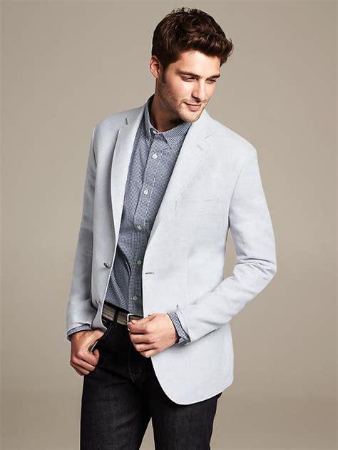 grey blazer banana republic tailoredfit light grey linencotton blazer in gray for men light grey heather