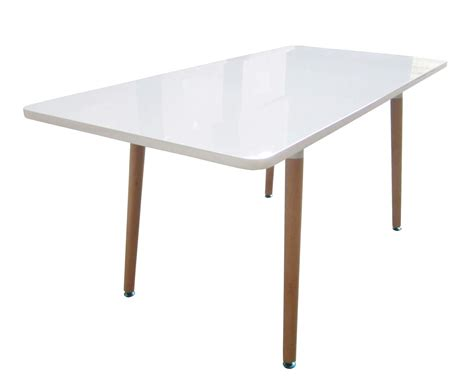 bentley home retro wooden white rectangle dining table