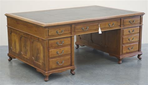 antique large mahogany partners desk 1019 for sale