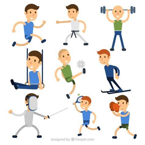 imagenes animadas haciendo deporte simp 225 ticos personajes haciendo deporte descargar